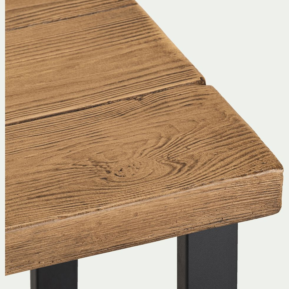 Tabouret de bar effet bois naturel - H76,5cm-DUBLIN