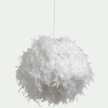 Suspension en plume - blanc D50cm-PLUME