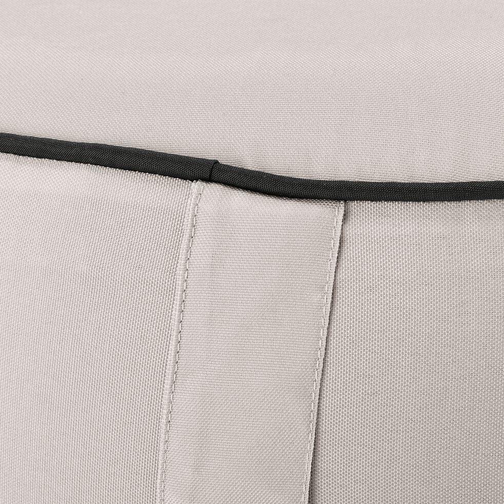 Pouf de jardin en tissu - beige alpilles D53cm-Caprice