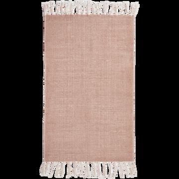 Descente de lit lirette 50x80 cm rose argile-ARTUS