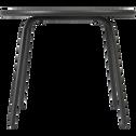 Table basse de jardin en acier gris-LILAS