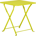 Table basse de jardin pliante verte en acier-Ted