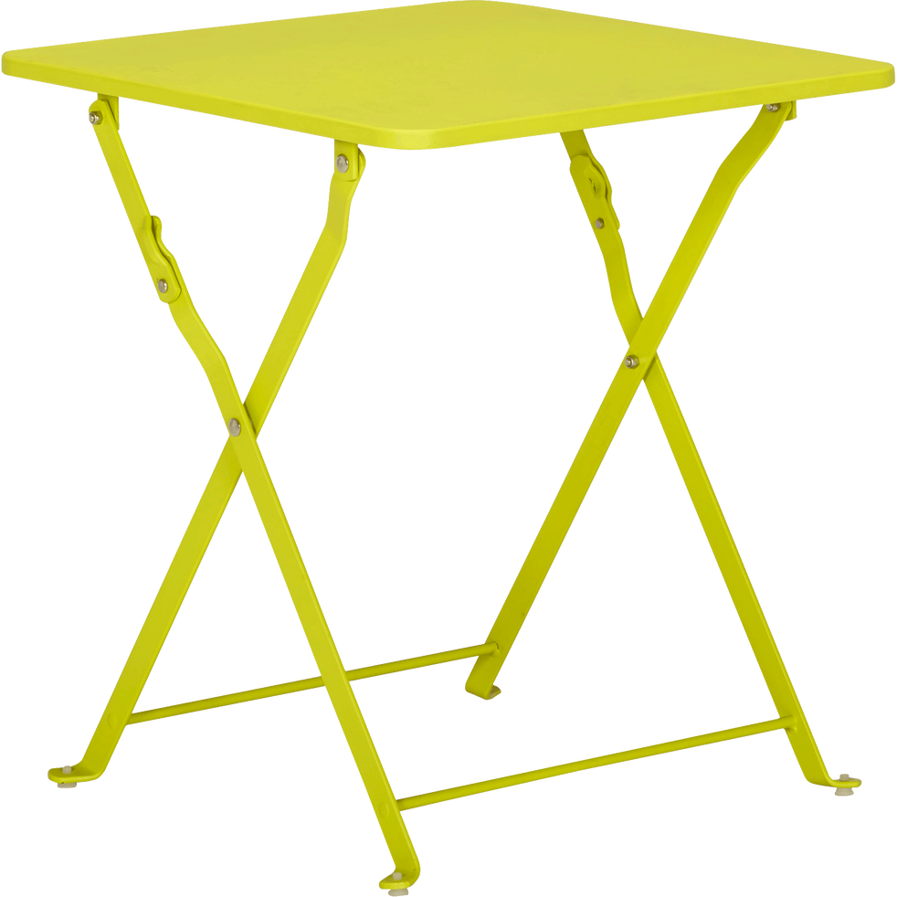 Table basse de jardin pliante verte en acier - Ted - tables basses ...