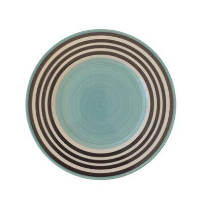 Assiette à dessert en faïence bleu ciel D22cm-PALAWAY