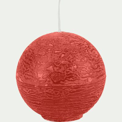 Bougie ronde - rouge azérole D6cm-BEJAIA