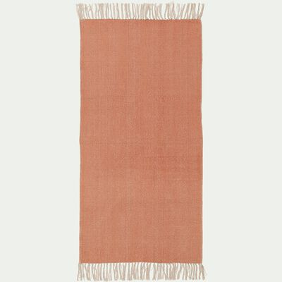 Descente de lit lirette - orange brique 70x140cm-Artus
