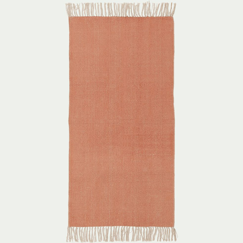 Descente de lit lirette 70x140 cm - orange brique-Artus