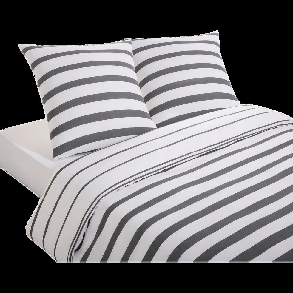 housse de couette 200x200 cm et 2 taies d 39 oreiller zohra 200x200 cm parures de lit alinea. Black Bedroom Furniture Sets. Home Design Ideas