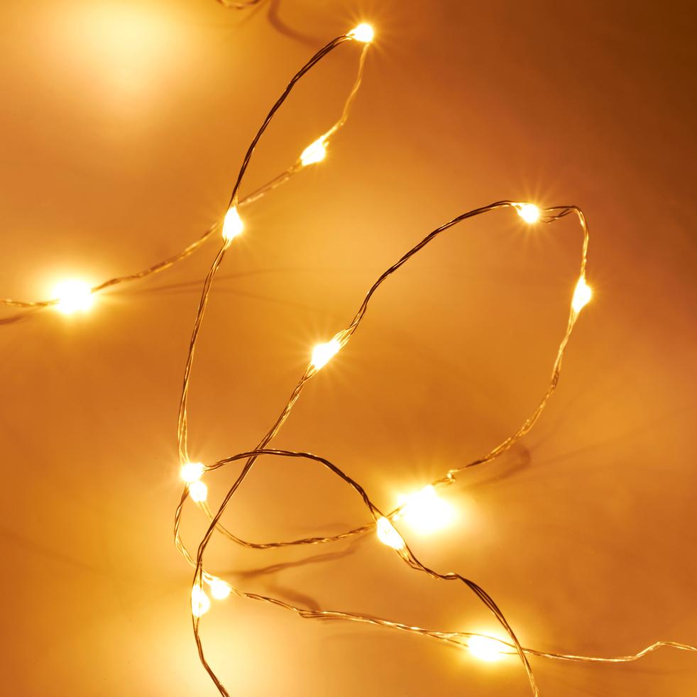 Guirlande lumineuse 1200cm - 240LED blanc chaud-TUBEMICRO