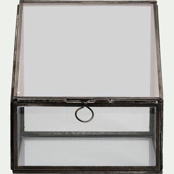 Terrarium en verre L15xl15xH15cm - transparent-DORIAN
