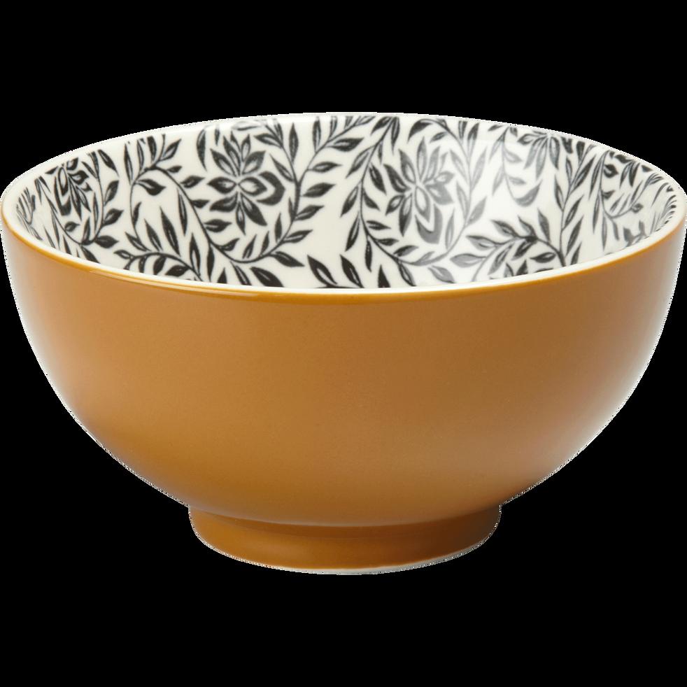 Coupelle en porcelaine beige nèfle motifs jasmin D11cm-AIX