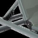 Bain de soleil en aluminium et textilène gris restanque-AREZZO