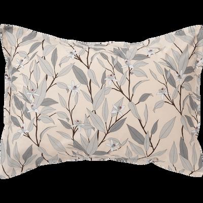 Lot de 2 taies d'oreiller en percale de coton imprimé Fleurs d'oranger - rectangle-FANNY