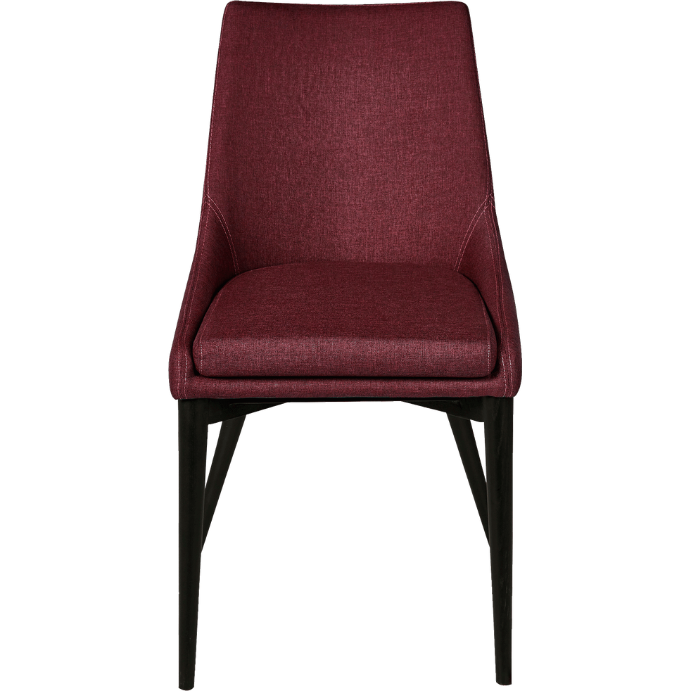 Chaise en tissu rouge sumac pieds noirs abby chaises - Chaise en plastique transparent ...