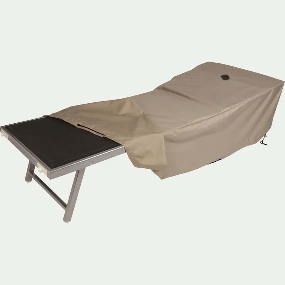 Housse de protection pour transat - beige alpilles - (L200x75xH45cm)-RIANS