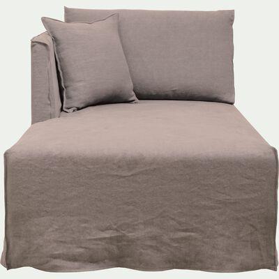 Méridienne gauche en lin gris borie-VENCE