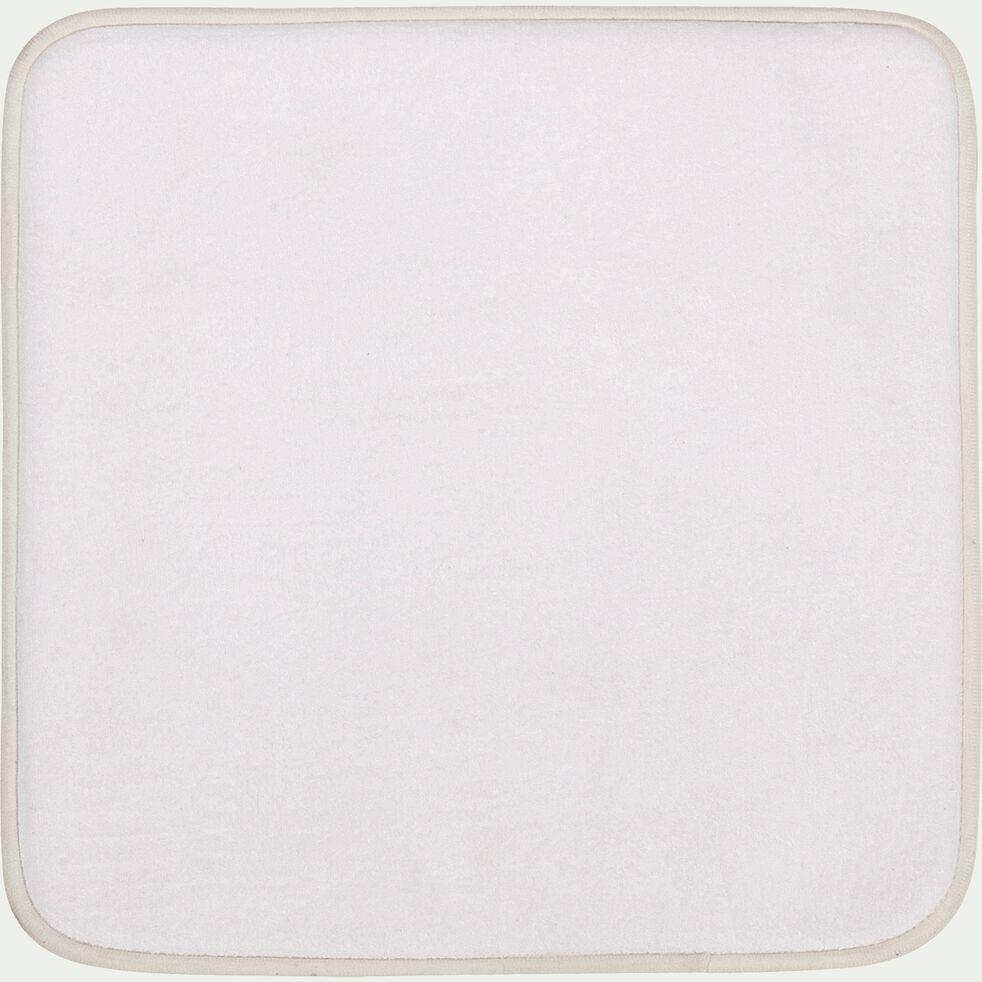 Tapis de bain à mémoire de forme - blanc 50x50cm-Memory