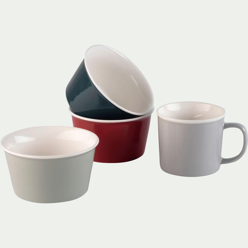 Coupelle en porcelaine rouge arbouse D12cm-CAFI
