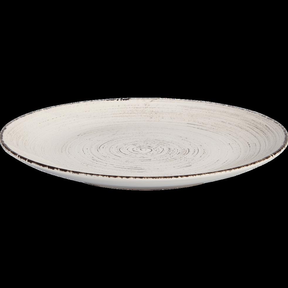 assiette plate en fa ence blanche effet patin d27cm gaston assiettes plates alinea. Black Bedroom Furniture Sets. Home Design Ideas