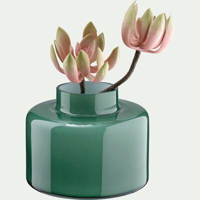 Vase en verre - vert D20xH15cm-MIRNA