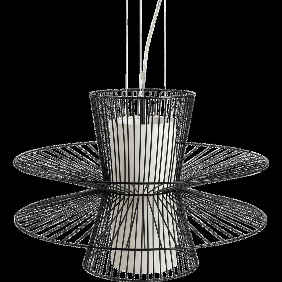 Suspension en métal noir D58cm-LALONDE