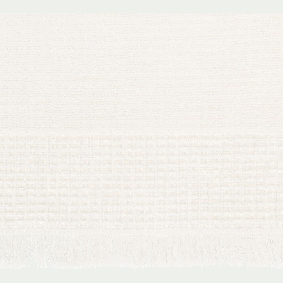 Drap de douche en bouclette de coton - blanc 70x140cm-TOMAR