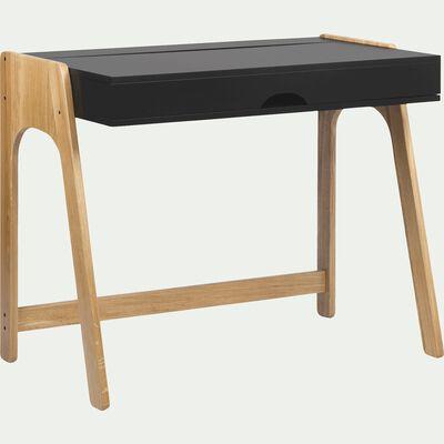 Bureau avec plateau relevable en bois - noir-DUC