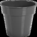 Cache-pot gris restanque en fer D11xH13cm-FLORA