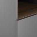 Module 1 porte et 2 niches effet chêne - gris-NESTOR