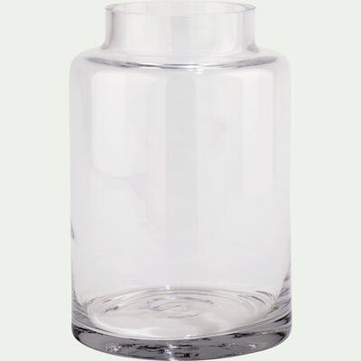 Vase en verre épais - transparent D15xH22cm-AJJA