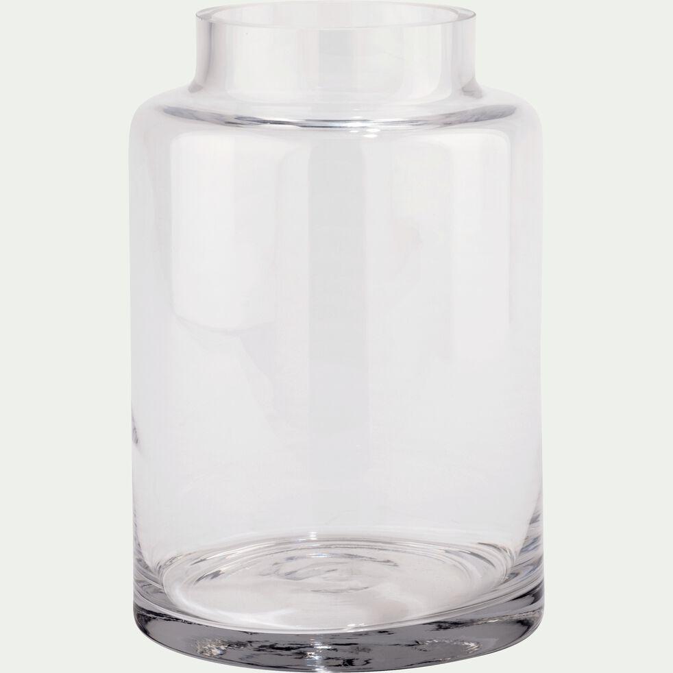Vase en verre - transparent D15xH22cm-AJJA