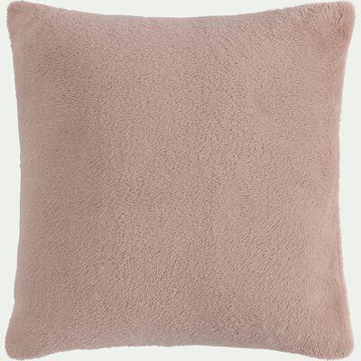 Housse de coussin effet polaire en polyester - rose rosa 65x65cm-ROBIN