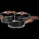 Crêpière en aluminium noir D28cm (tous feux dont induction)-PADENA