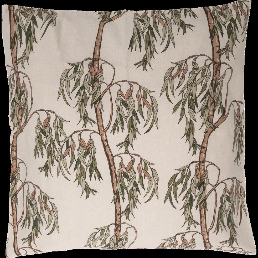 Housse de couette en coton motifs Saule 260x240 et 2 taies d'oreillers-SAULE
