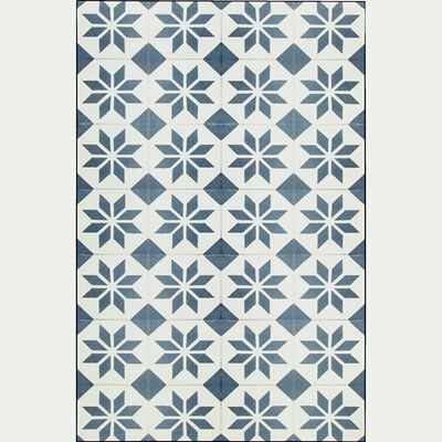 Tapis en vinyle - gris et blanc 100x150cm-SOLENE