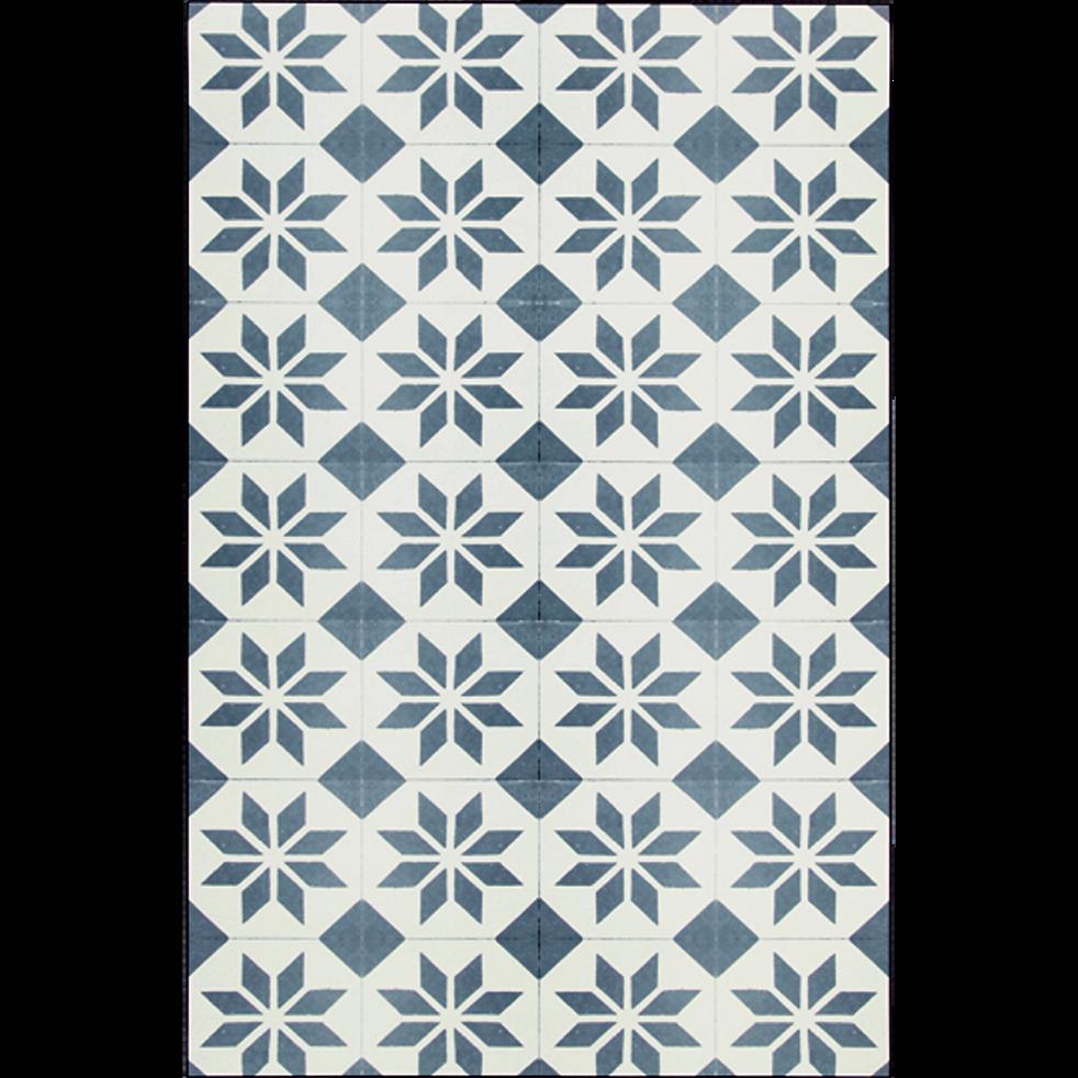 Tapis en vinyle gris et blanc 100x150cm-SOLENE