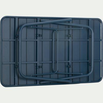 Table de jardin pliante en acier - bleu figuerolles (4 à 6 places)-Souris
