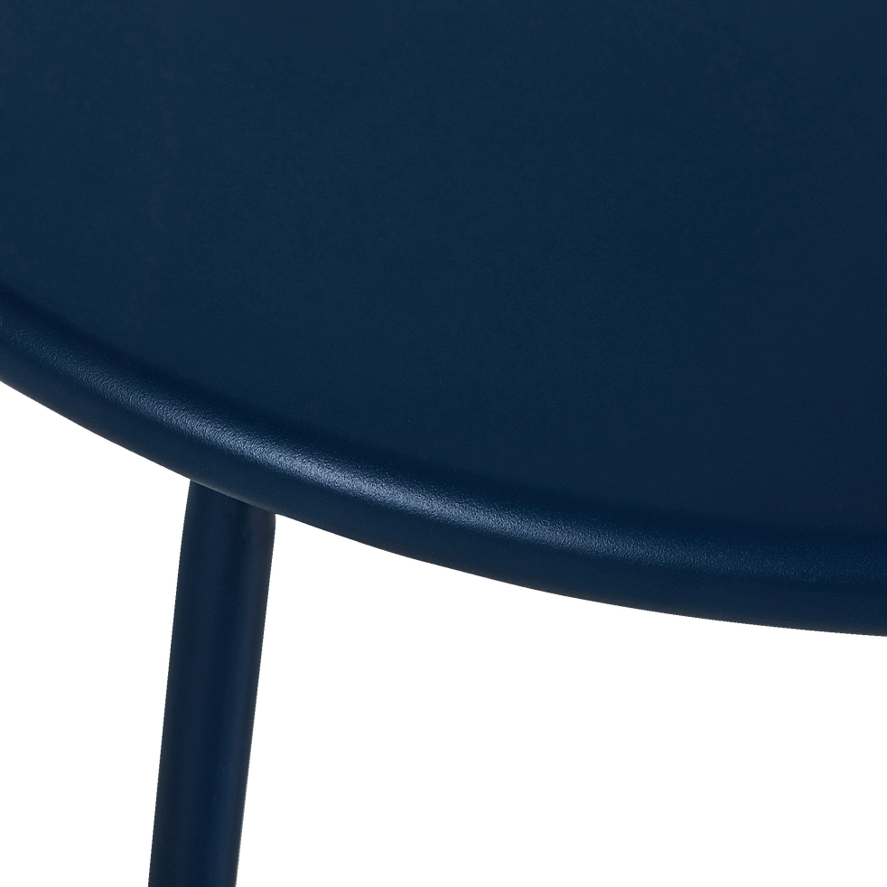 Table basse de jardin en acier - bleu figuerolles-LILAS
