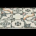 Tapis de cuisine carreaux de ciment  50x80cm en vinyle-VISTACIMEN1