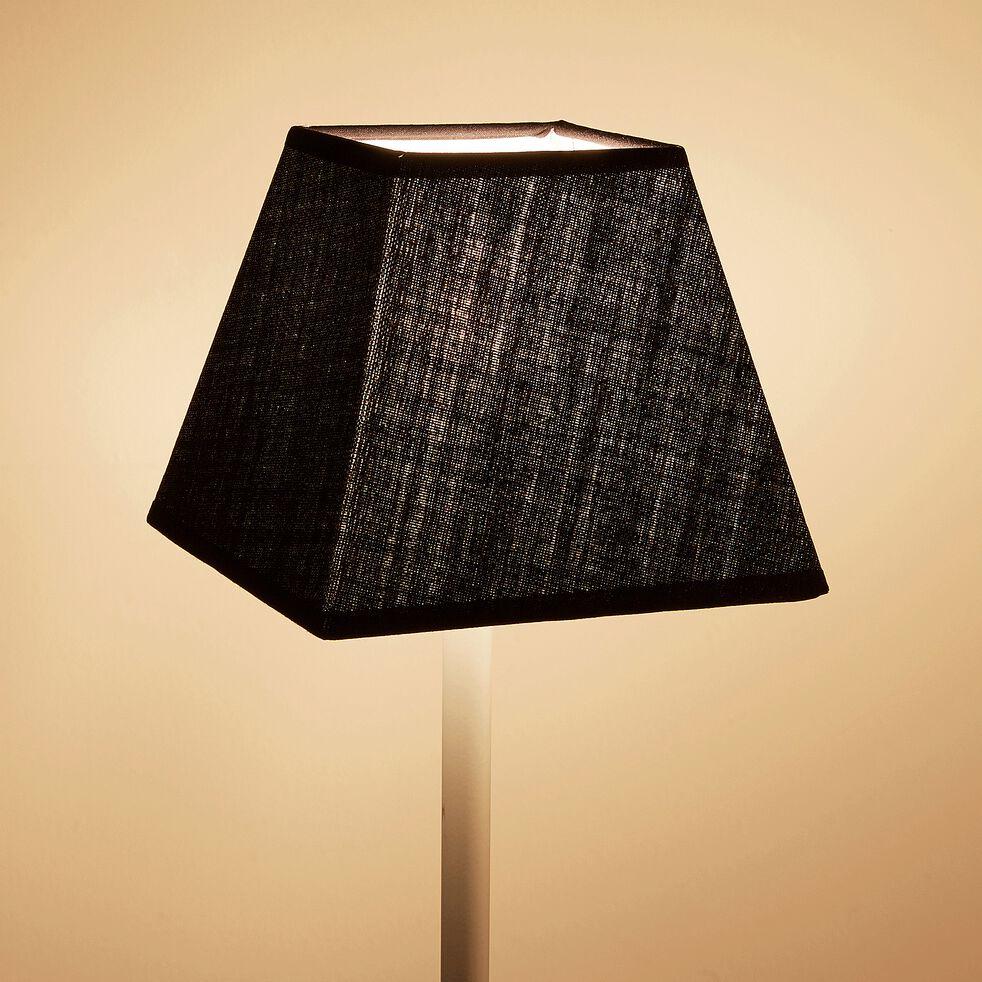 Abat jour carré - noir D16xH14cm-MISTRAL