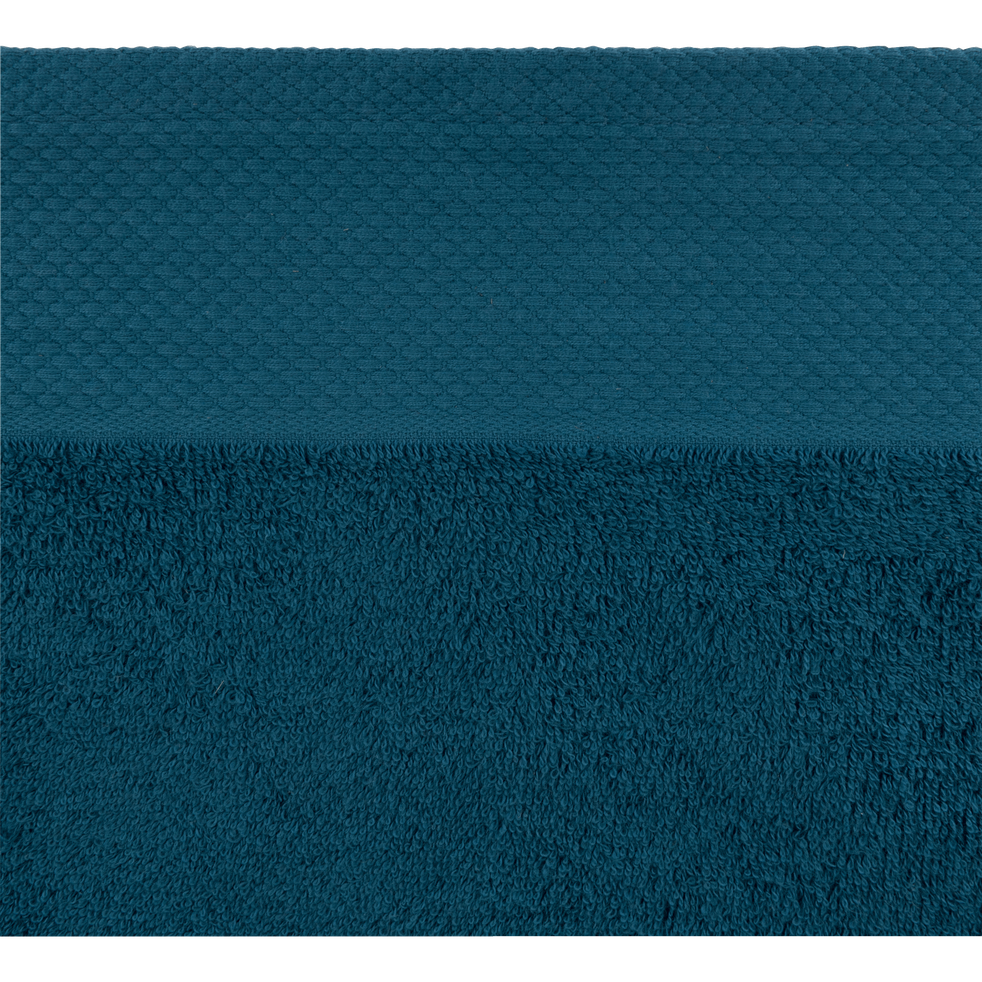 Serviette invité en coton 30x50cm bleu figuerolles-AZUR
