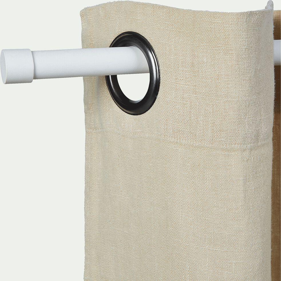 Tringle extensible en acier blanc 70 à 120 cm-MANON