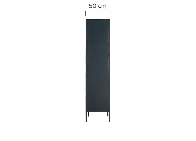 Armoire 3 portes en acier Noir-SERRA
