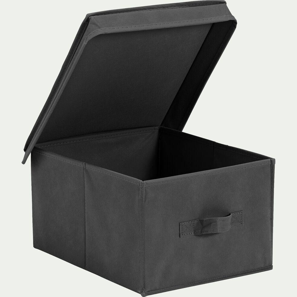 Boîte de rangement intissé grise 43x34xh32cm (moyen modèle)-IVY