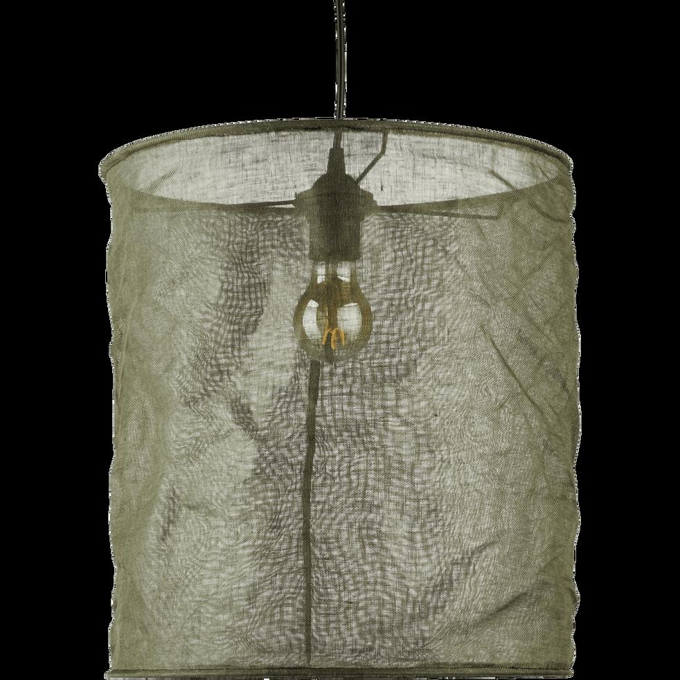 Suspension en lin vert cèdre D35cm-ORMES