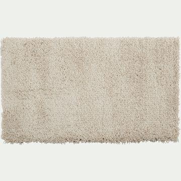 Descente de lit à poils longs - blanc écru 60x110cm-Kris