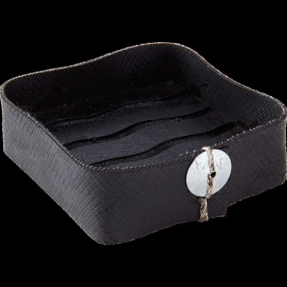 Porte-savon carré noir-STOOL