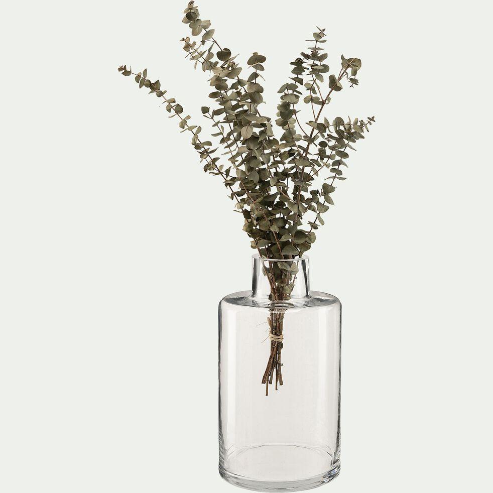 Vase bouteille en verre - transparent D15xH27cm-ALBIZIA