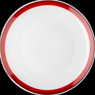 Assiette plate en porcelaine motif dégradé rouge sumac D26.5cm-VIC
