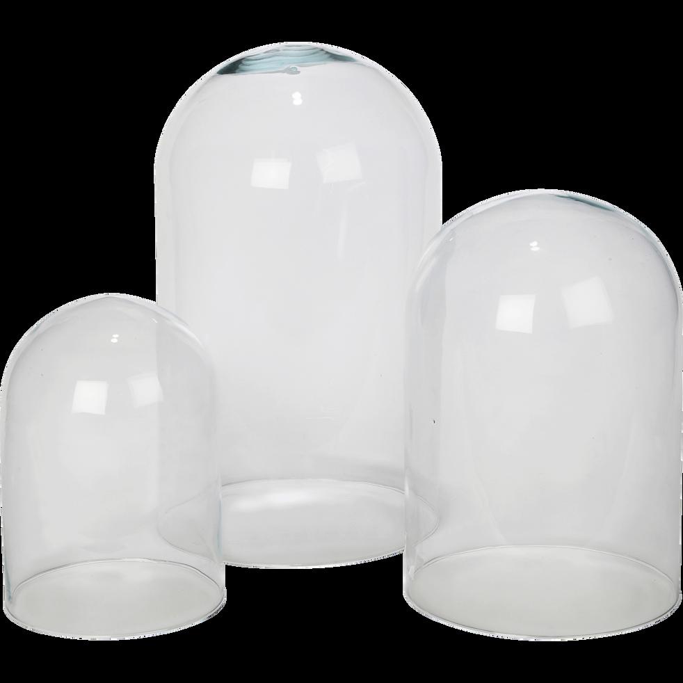Cloche en verre transparent H36 cm-LAGOA